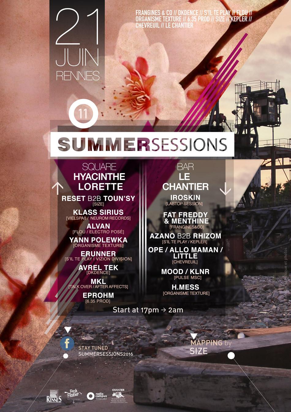 Summer Sessions, Rennes, Soirée, Techno, House, Electro, Fête de La Musique