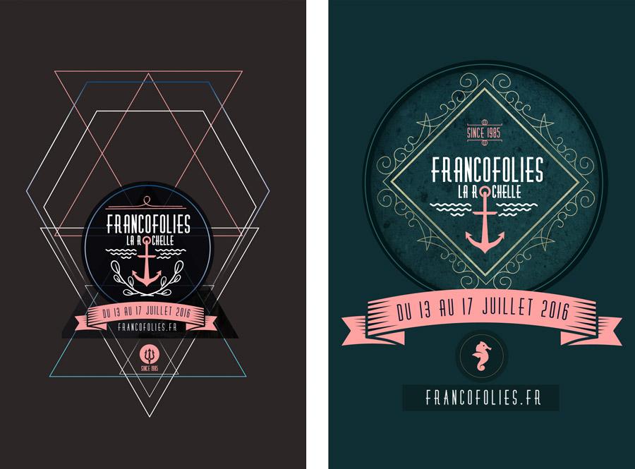 Karlottadsgn, Francofolies La Rochelle 2016 Projet print, web, graphisme, chef de projet web, print, réseaux sociaux, mailing, création graphique, originale; Bretagne, Rennes, Vannes, Saint Brieuc, France