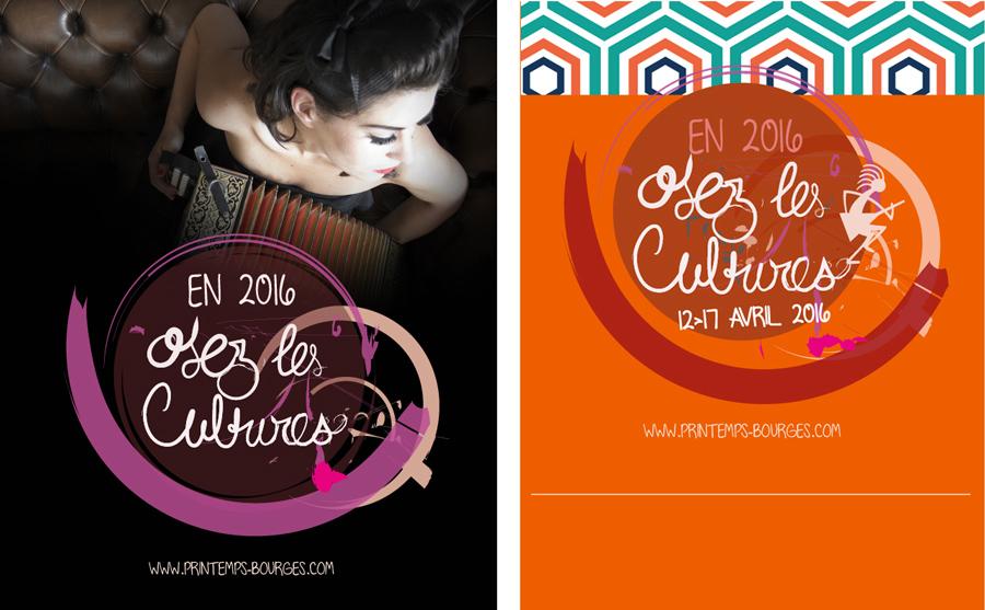 Karlottadsgn, Printemps de Bourges 2016 Projet print, web, graphisme, chef de projet web, print, réseaux sociaux, mailing, création graphique, originale; Bretagne, Rennes, Vannes, Saint Brieuc, France